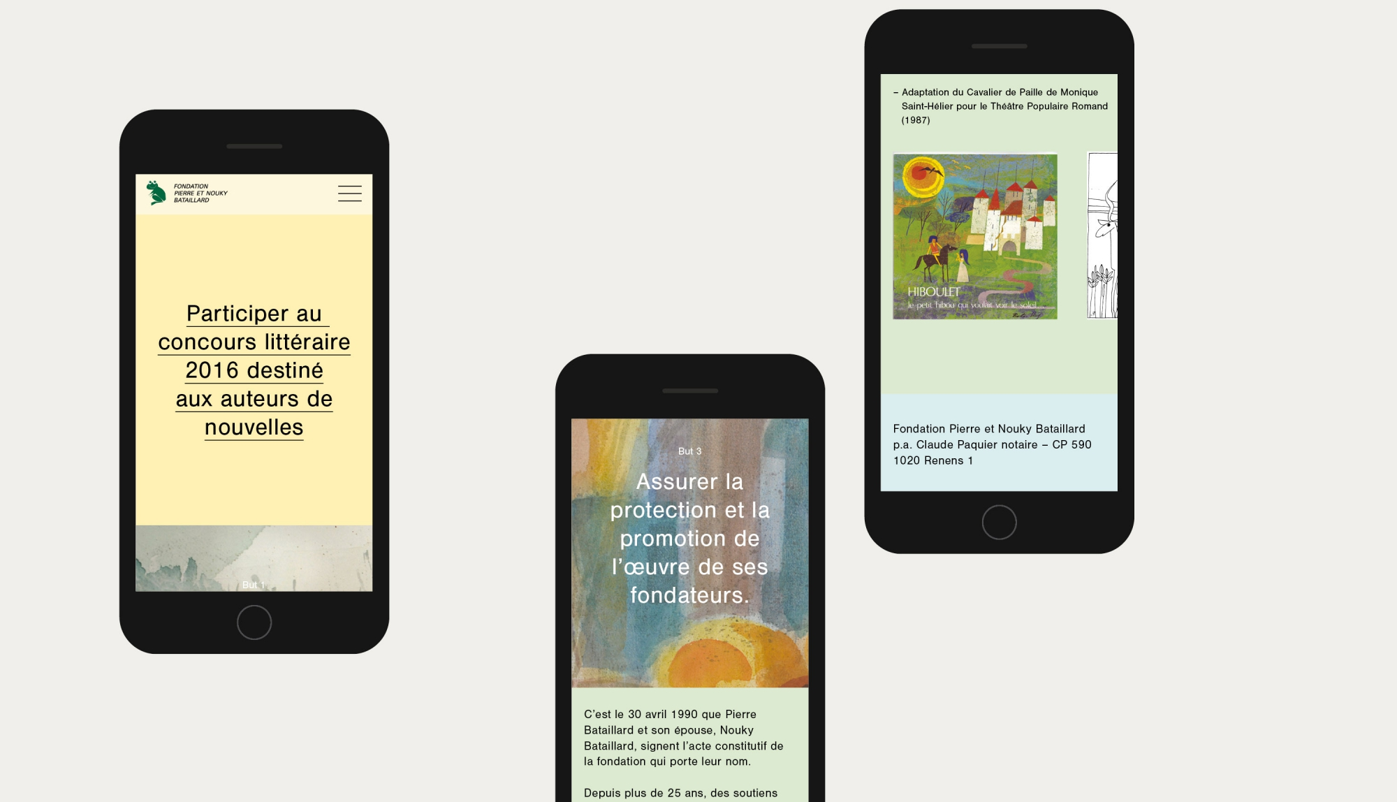 Flyer responsive design website