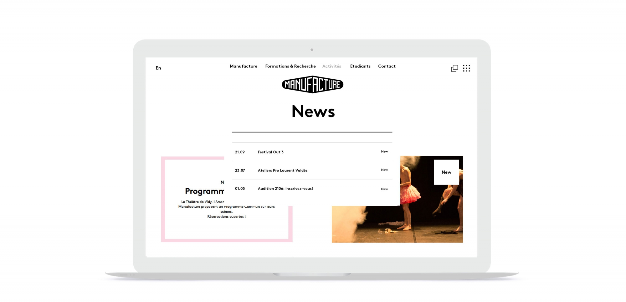 La Manufacture\'s Website - About Blank Design Office